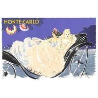 ''Monte Carlo'' by Louis Icart Vintage Advertising Art Print (24 x 36 in.)