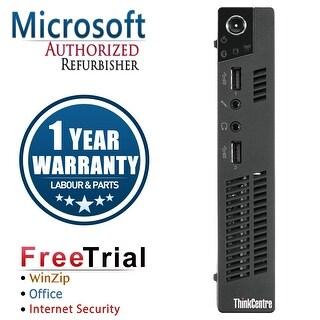 Refurbished Lenovo ThinkCentre M72E Tiny Intel Core I5 3470T 2.9G 4G DDR3 320G Win 10 Pro 1 Year Warranty - Black