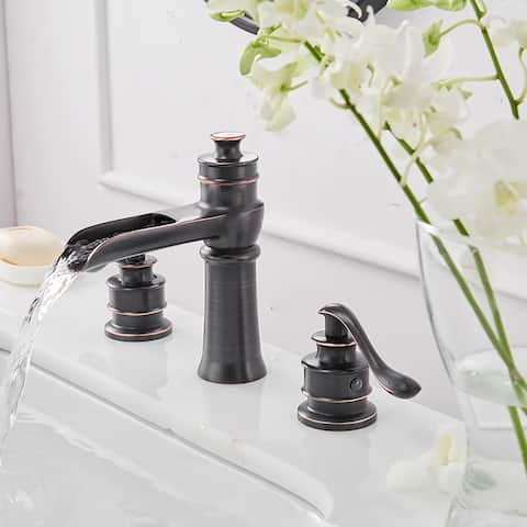 Oil Rubbed Bronze Two-Handle Widespread Bathroom Faucet