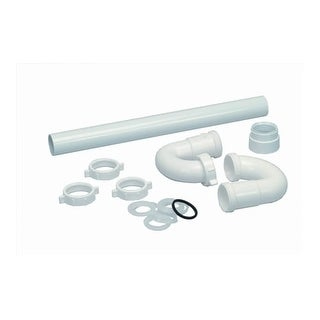 """Proflo PFSTP100 7"""" Plastic S-Trap with Marvel Connections (1-1/4"""" X 1-1/4"""" Conne"""