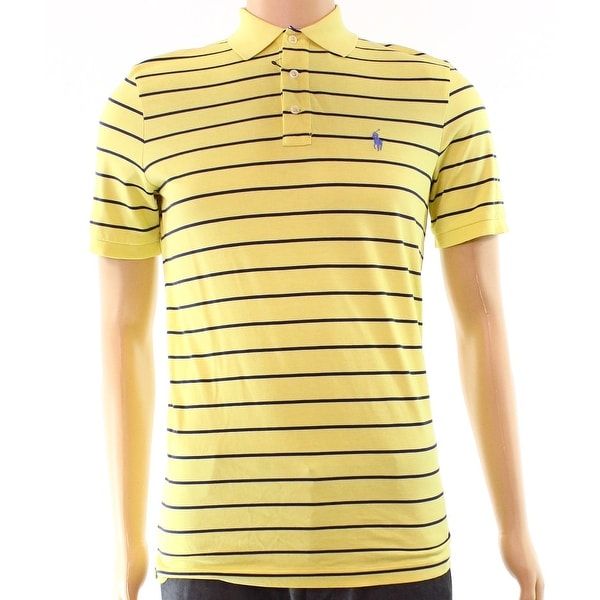 35928e2222995 Shop Polo Ralph Lauren Yellow Navy Mens Size 2XL Stripe Polo Rugby Shirt -  Free Shipping On Orders Over  45 - Overstock - 22514958