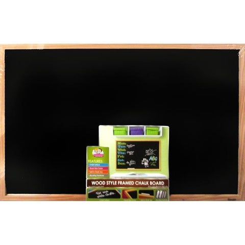 Shop Brd Dudes Chalk Board 23x35 Wood Style Frame Free Shipping On