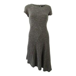 Link to Ellen Tracy Women's Petite Marled Asymmetrical-Hem Sweater Dress Similar Items in Petites