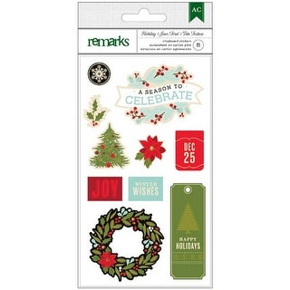 Holiday Remarks Chipboard Stickers-Celebrate Shapes & Phrases