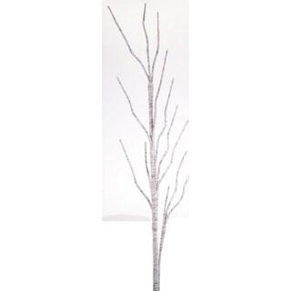 "44"" Winter Light Shimmering White Christmas Birch Branch Decoration"