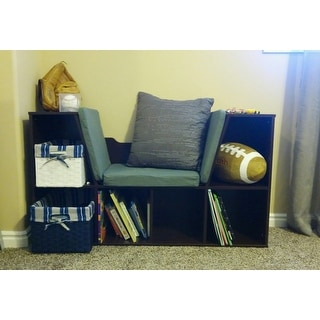 KidKraft Espresso Bookcase with Reading Nook