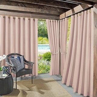 Link to Sun Zero Sailor Indoor Outdoor UV Protectant Room Darkening Grommet Curtain Panel, Single Panel Similar Items in Outdoor Decor