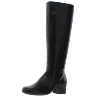 Link to Elites by Walking Cradles Womens Mix Dress Boots Leather Knee-High - Black Similar Items in Women's Shoes