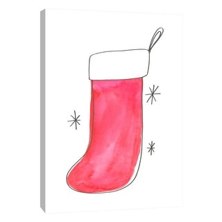 "PTM Images 9-108690  PTM Canvas Collection 10"" x 8"" - ""Stockings 1"" Giclee Holiday Art Print on Canvas"