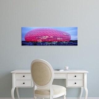 Easy Art Prints Panoramic Images's 'Soccer Stadium Lit Up At Dusk, Allianz Arena, Munich, Germany' Premium Canvas Art