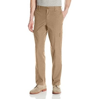 Dockers Mens The Broken In Utility Cargo Straight Fit Pant Stretch, Timberwolf
