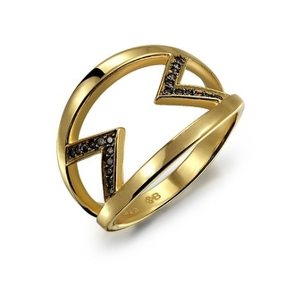 Link to Black Two Tone CZ Arrow Band Ring Gold Plated 925 Sterling Silver Similar Items in Rings
