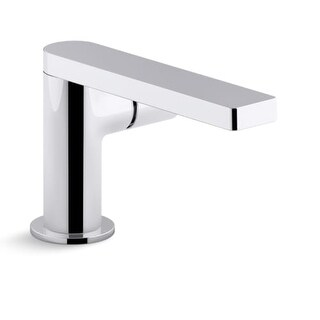 Kohler K-73050-7 Composed Single-Handle Bathroom Sink Faucet with Cylindrical Handle (Option: Steel Finish)