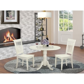 Link to DLWE3-W  3 PC Table set-Dinette Table and 2 Dining Chairs in Similar Items in Dining Room & Bar Furniture