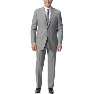 Ralph Lauren Trim Fit Silver Grey Wool Suit 42 Short 42S Pants 36W