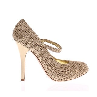 Dolce & Gabbana Gold Leather Mary Janes Pumps - 41
