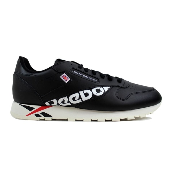 ec819fd7412 Shop Reebok Men s Classic Leather Mu Black White-Red-ChalkDV5016 ...