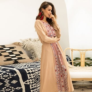 Link to New Printed Waist Long Sleeve Dress Similar Items in Dresses