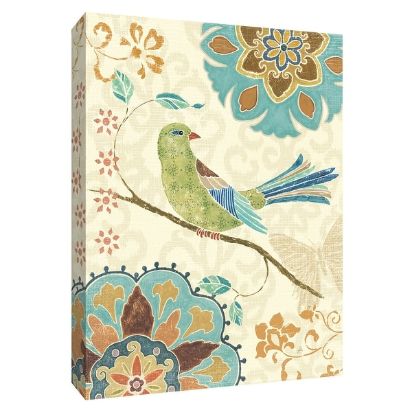 """PTM Images 9-154894 PTM Canvas Collection 10"""" x 8"""" - """"Eastern Tales Birds II"""" Giclee Birds Art Print on Canvas"""