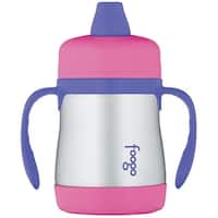 Thermos Foogo Vacuum Insulated 7oz Sippy Cup w/Handles (Pink/Purple)