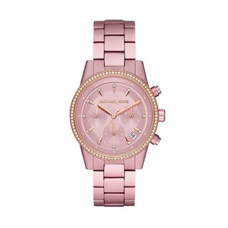 Link to Michael Kors Women's Ritz Stainless Steel Pink Crystal Ladies Watch Similar Items in Women's Watches