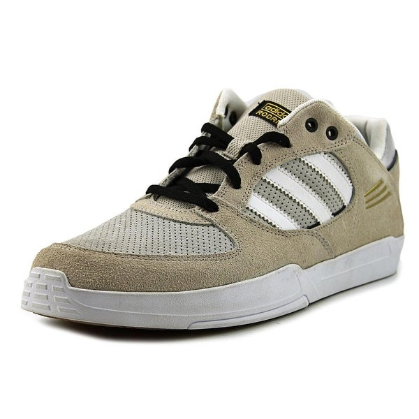 Adidas Tribute ADV Men Round Toe Leather Gray Sneakers