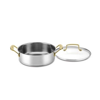 Cuisinart C7M55-24GD Mineral Collection 3.5 Quart Casserole with Cover, Stainless Steel