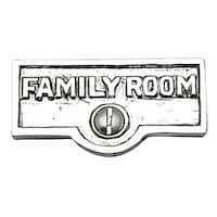 Switch Plate Tags FAMILY ROOM Name Signs Label Chrome Brass | Renovator's Supply