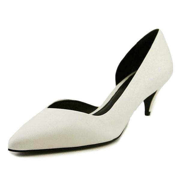 Aldo Barlas Women Pointed Toe Leather White Heels