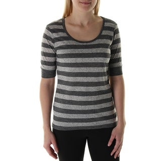 The Balance Collection Womens Striped Short Sleeves Pullover Top - L