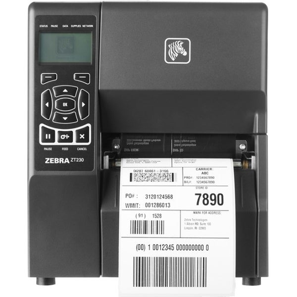 Zebra ZT230 Direct Thermal Printer - Monochrome - Desktop - Label (Refurbished)