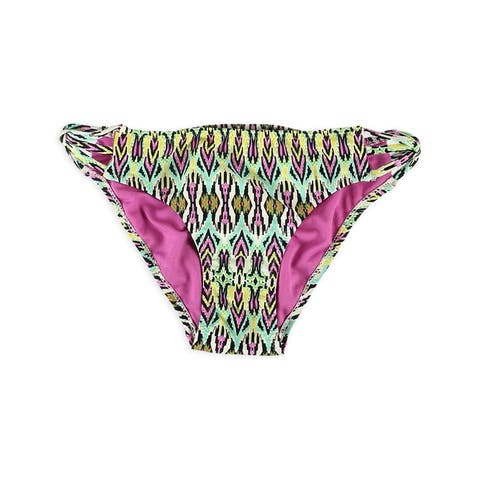 Aeropostale Womens Printed Strappy Bikini Swim Bottom