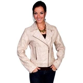 Scully Western Jacket Womens Vintage Lamb Zipper Side Pockets L537