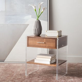 Safavieh Couture Kylo 1-drawer Acrylic Nightstand