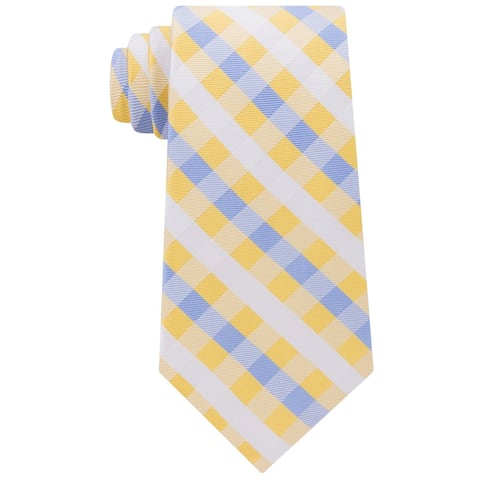 Tommy Hilfiger Blue Men's One Derby Small Gingham Neck Tie