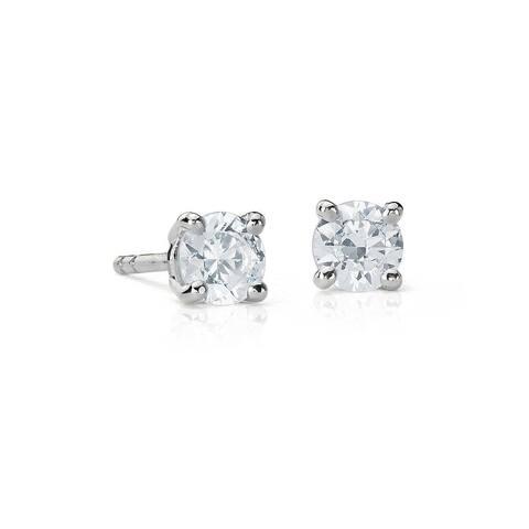 Suzy Levian 14K White Gold 0.15 ct. tw. Diamond Stud Earrings
