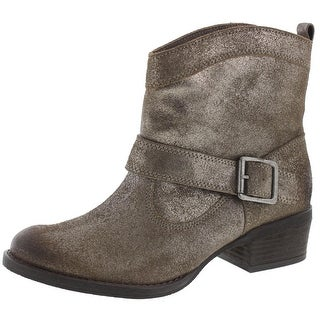 Naughty Monkey Womens Metalicah Ankle Boots Suede Shimmer - 6.5 medium (b,m)