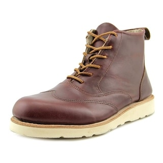Sebago Taric Round Toe Leather Ankle Boot
