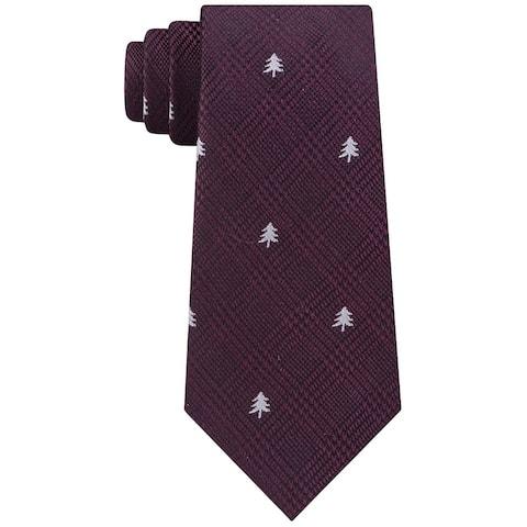 Tommy Hilfiger Men's Holiday Tree Tie Red Size Regular
