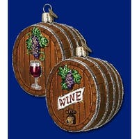 Old World Christmas Wine Barrel Glass Ornament #32067