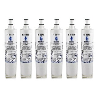 Whirlpool ED25RFXFW01 Refrigerator Water Filter Replacement - by Refresh (6 Pack)