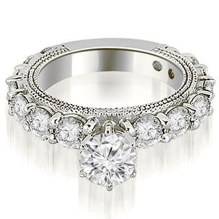 2.50 CT.TW Antique Round Cut Diamond Engagement Ring - White H-I (More options available)