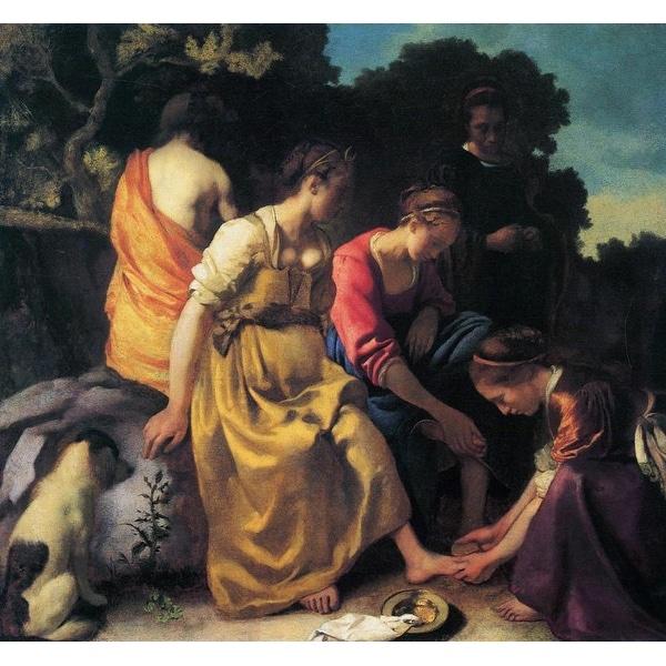 Easy Art Prints Johannes Vermeer's 'Diana and her Companions (pre