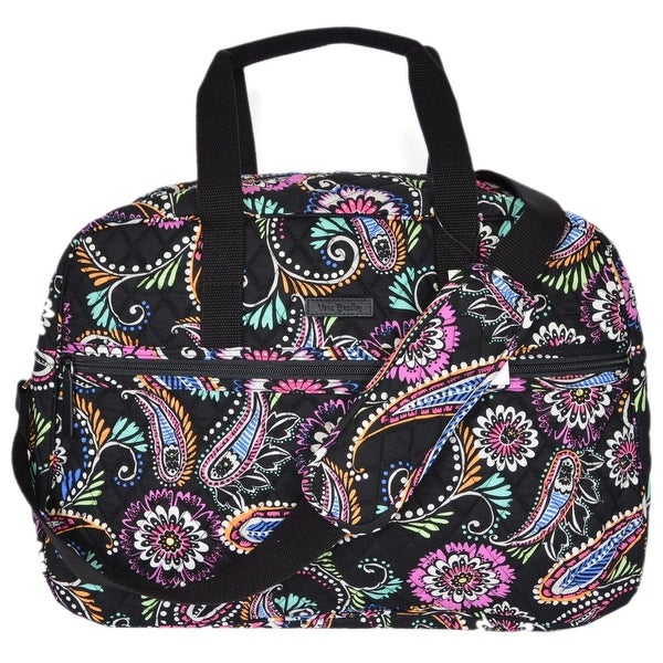 Vera Bradley BANDANA SWIRL Print Cotton Medium Traveler Weekender Travel Bag 1c55989bcc