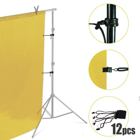 Lusana Studio 12-Pack Easy Adjusted Lightweight Background Muslin Backdrop Holders