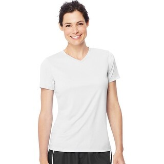 Hanes Women's Cool DRI® V-Neck T-Shirt - Size - XL - Color - White