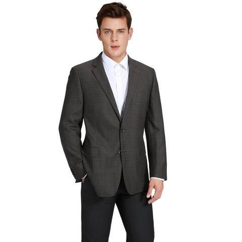Men's Classic Fit Plaid Blazer 100% Wool Sport Coat