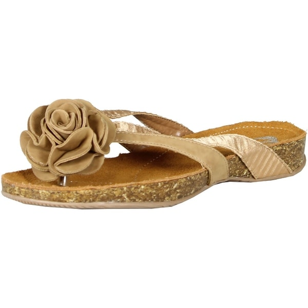 Gcny Good Choice Womens On Time Flower Sandals
