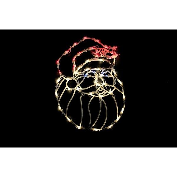 "18"" Lighted Santa Christmas Window Silhouette Decoration - WHITE"