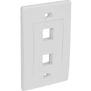 StarTech PLATE2WH StarTech.com Dual Outlet RJ45 Universal Wall Plate White - 2 x Socket(s) - White